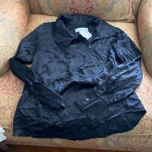 Veronica Beard blouse silk black 1